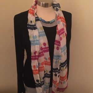 Colorful spring sheer scarf